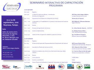 23 y 24 de septiembre, 2010 Reynosa, Tamps.