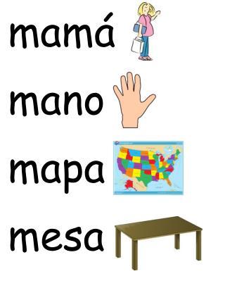 mamá mano mapa mesa