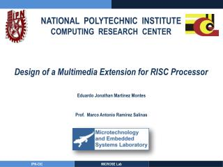 NATIONAL  POLYTECHNIC  INSTITUTE COMPUTING  RESEARCH  CENTER