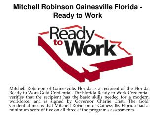 Mitchell Robinson Gainesville Florida - Ready to Work