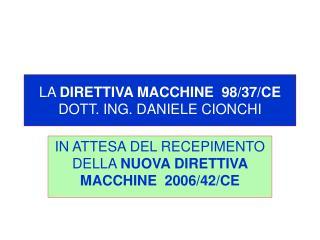 LA DIRETTIVA MACCHINE  98
