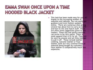 Emma swan once upon a time hooded black