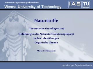 Institut für Angewandte Synthesechemie