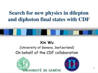 Search for new physics in dilepton and diphoton final states with CDF
