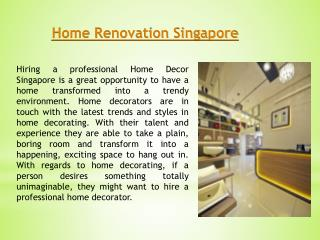 Singapore Home Renovation