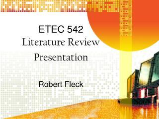 ETEC 542