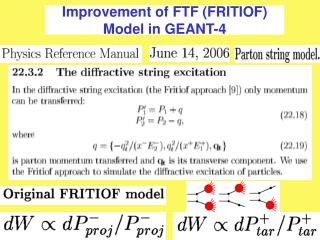 Improvement of FTF (FRITIOF) Model in GEANT-4