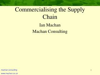 Commercialising the Supply Chain