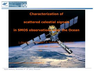 Characterization of  scattered celestial signals  in SMOS observations over the Ocean