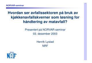 NORVAR-seminar
