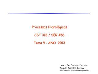 Processos Hidrológicos CST 318 / SER 456 Tema 9 - ANO  2013