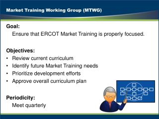Market Training Working Group (MTWG)
