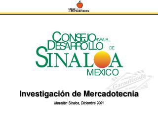 Investigación de Mercadotecnia Mazatlán Sinaloa, Diciembre 2001