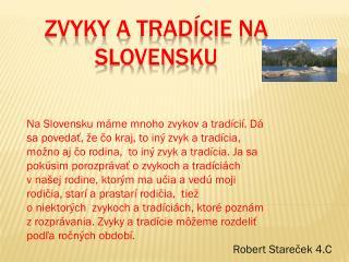 Zvyky atradície na Slovensku