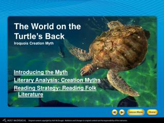 The World on the Turtle's Back Iroquois Creation Myth