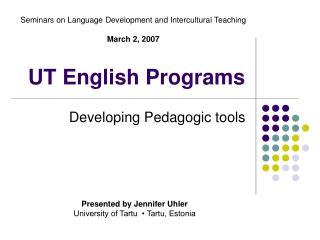 UT English Programs