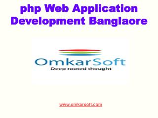 php Web Application Development Banglaore
