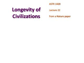 Longevity of Civilizations