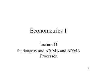 Econometrics 1