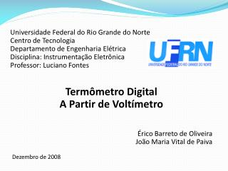 Universidade Federal do Rio Grande do Norte Centro de Tecnologia