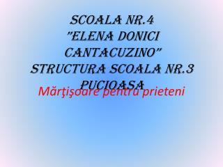 SCOALA NR.4 �ELENA DONICI CANTACUZINO� STRUCTURA SCOALA NR.3 PUCIOASA