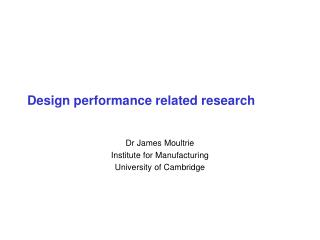 Design performance related research