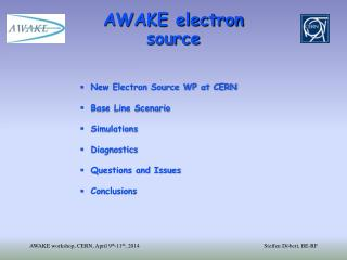 AWAKE electron source