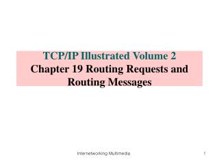 TCP/IP Illustrated Volume 2 Chapter 19 Routing Requests and Routing Messages