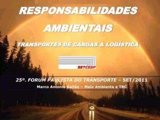 RESPONSABILIDADES  AMBIENTAIS   TRANSPORTES DE CARGAS & LOGÍSTICA