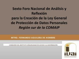 MTRO. FERNANDO AGUILERA DE HOMBRE