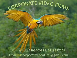 Distinct Services offered by Corporate Video Films @98997005