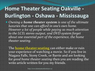 Home Theater Seating Oakville - Burlington - Oshawa