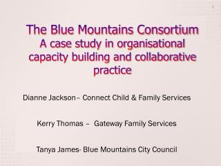 Dianne Jackson– Connect Child & Family Services Kerry Thomas –  Gateway Family Services