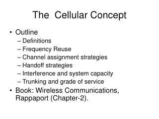The  Cellular Concept