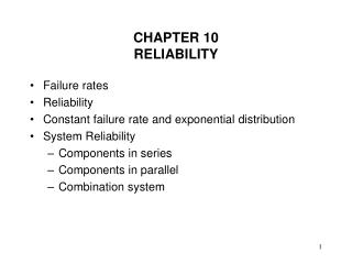 CHAPTER 10 RELIABILITY