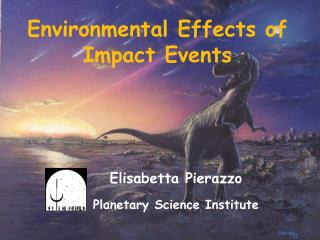 Environmental Effects of Impact Events