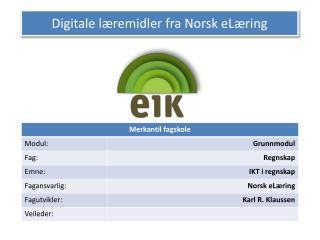 Digitale læremidler fra Norsk eLæring