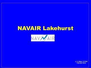 NAVAIR Lakehurst