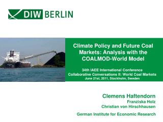 Climate Policy and Future Coal Markets: Analysis with the COALMOD-World Model