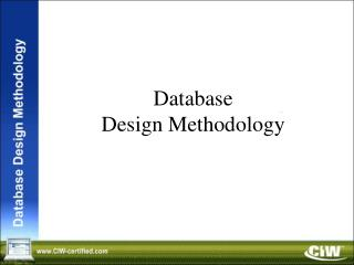 Database Design Methodology