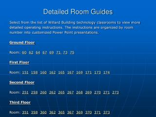 Detailed Room Guides