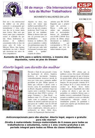 Anticoncepcionais para n�o abortar. Aborto legal, seguro e gratuito para n�o morrer!