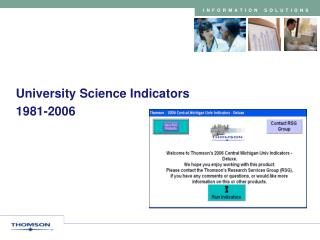 University Science Indicators 1981-2006