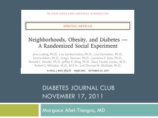 Diabetes Journal Club November 17, 2011