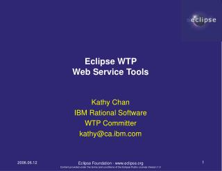 Eclipse WTP  Web Service Tools