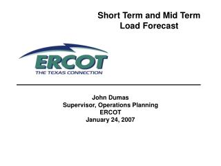 Short Term and Mid Term Load Forecast