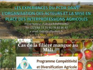 Cas de la filière mangue au Mali