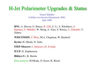 H-Jet Polarimeter Upgrades & Status