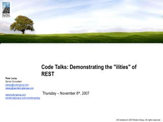 Code Talks: Demonstrating the