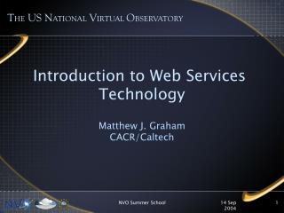 Introduction to Web Services  Technology